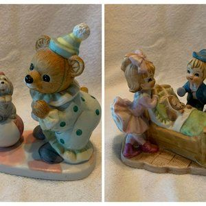 Pair of Home Interior Homco Figurines